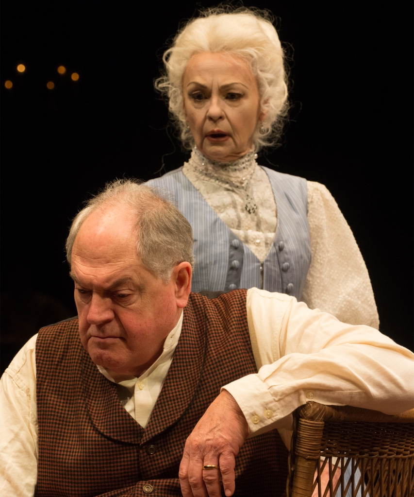 Judith-Marie Bergan as Mary Tyrone, Michael Winters as James Tyrone. Photo: Jenny Graham.