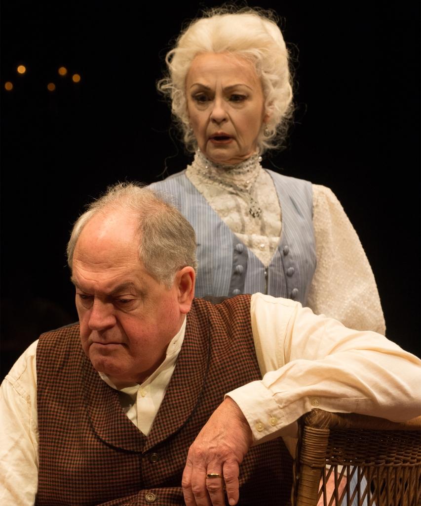 Judith-Marie Bergan as Mary Tyrone, Michael Winters as James Tyrone. Photo: Jenny Graham.