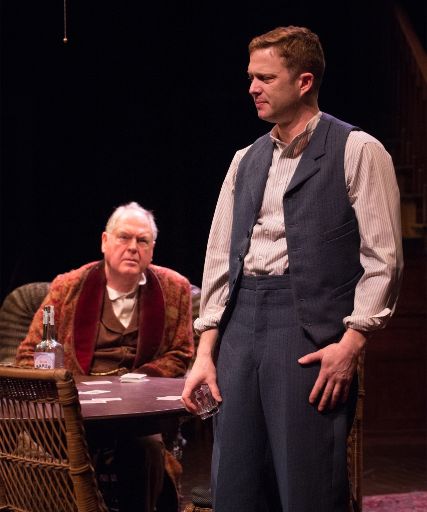 Michael Winters as James Tyrone, Danforth Comins as Edmund Tyrone. Photo: Jenny Graham.