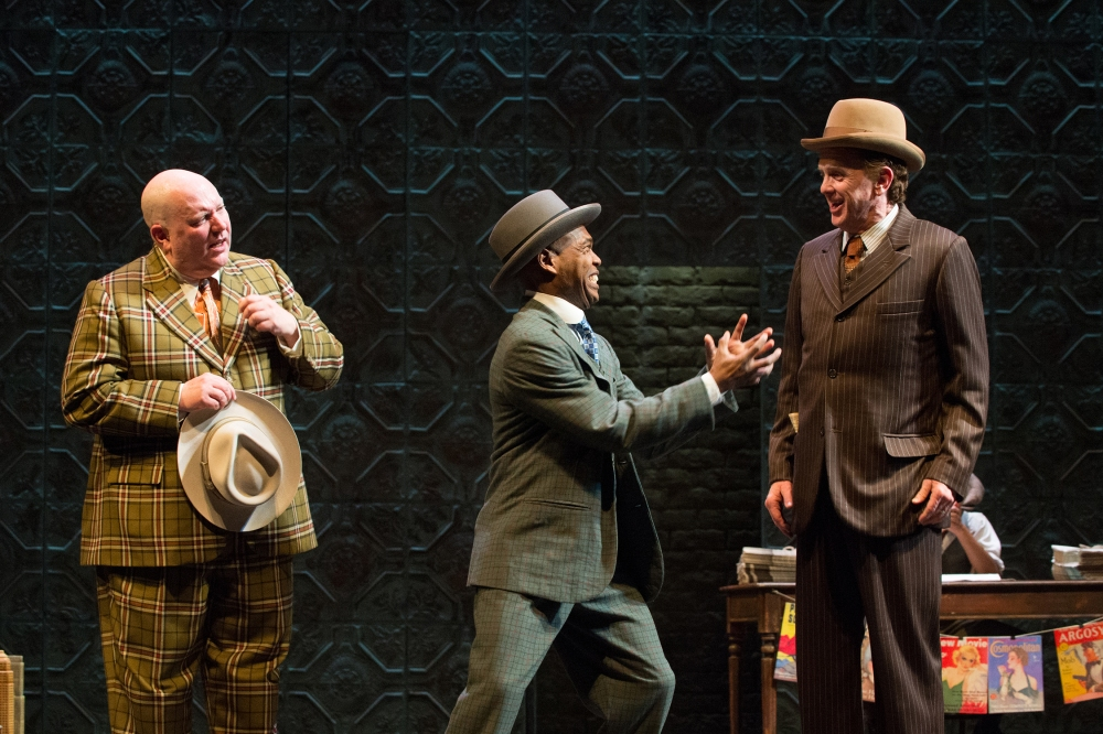 Three reasons why resistance is futile: Nicely-Nicely Johnson (Daniel T. Parker), Nathan Detroit (Rodney Gardiner), Benny Southstreet (David Kelly).  Photo by Jenny Graham.