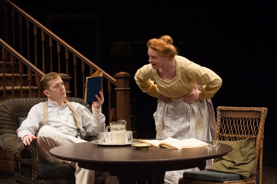 Cathleen (Autumn Buck) teases Edmund Tyrone (Danforth Comins). Photo: Jenny Graham.
