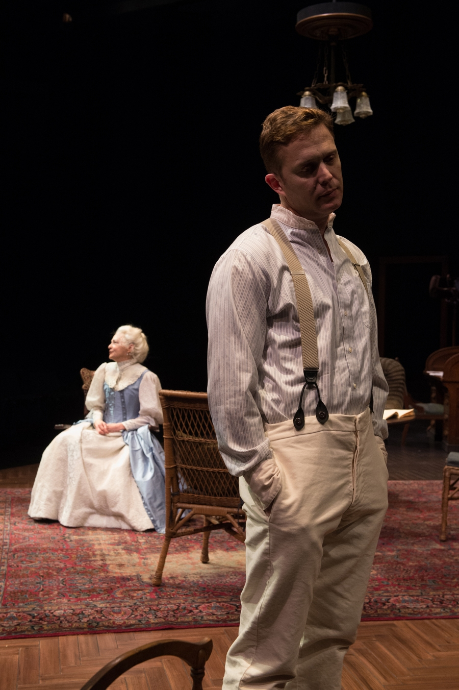 Edmund (Danforth Comins) finds it futile to talk with his mother (Judith-Marie Bergan), about his health. Photo: Jenny Graham.