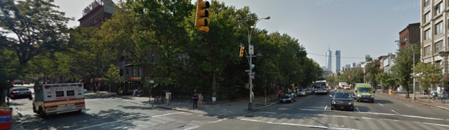 The corner of W. 4th and 6th Avenue in Greenwich Village - former location of the Golden Swan.